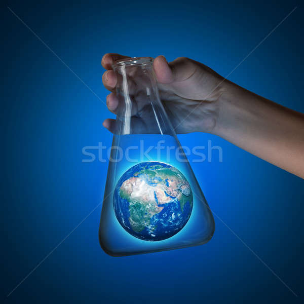 World in tube Stock photo © adam121