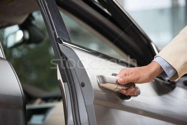 Stockfoto: Auto · deur · behandelen · menselijke · mannelijke