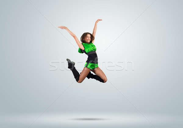 Cheerleader meisje jonge mooie springen Stockfoto © adam121