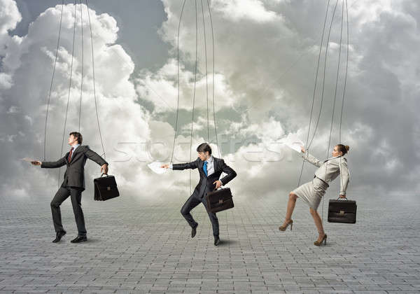 Zakenlieden zakenlieden opknoping business vrouw man Stockfoto © adam121