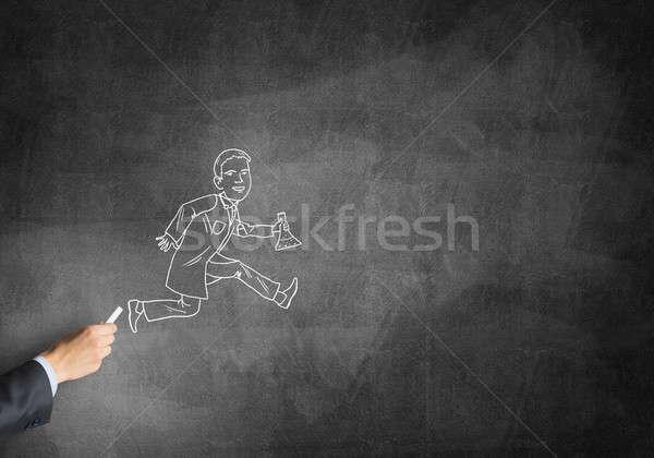 Karikatúra férfi orvos férfi kéz rajz Stock fotó © adam121