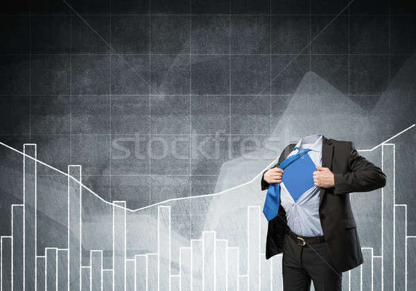 Stock photo: Headless super businessman