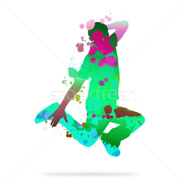 抽象的な ダンサー 画像 色 シルエット 白 ストックフォト © adam121
