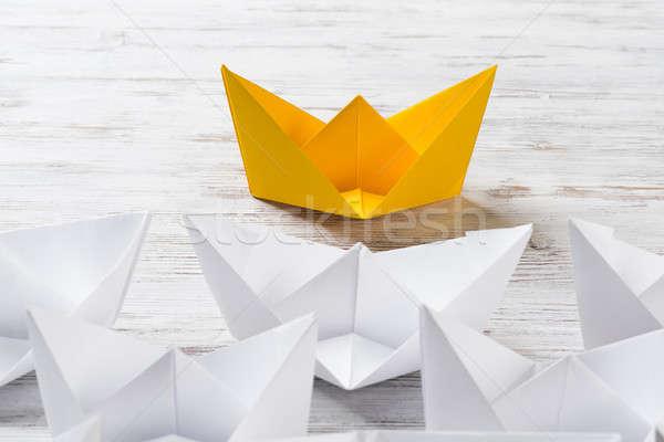 Stock fotó: üzlet · irányítás · fehér · szín · papír · hajók