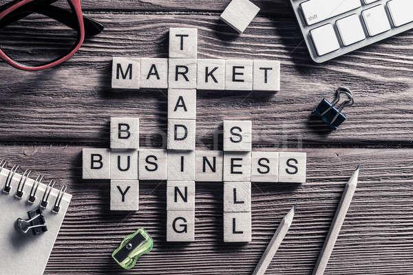 ビジネス 表 要素 ゲーム マキ 単語 ストックフォト © adam121