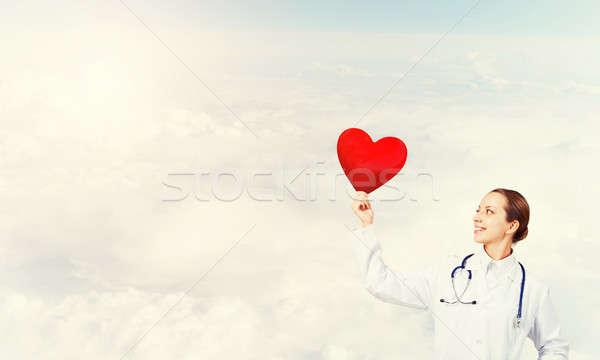 Comprobar corazón salud médico cielo Foto stock © adam121
