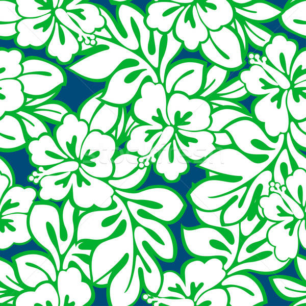 Hibiscus tropical leaves in a seamless pattern Stock photo © adamfaheydesigns