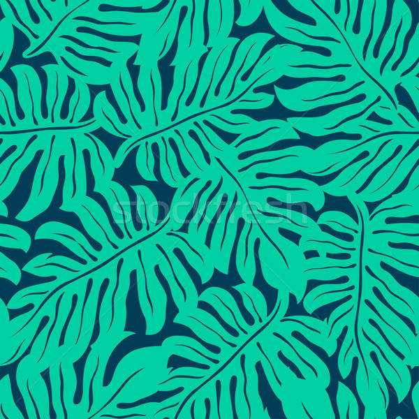 Monstera tropical leaf in a seamless pattern Stock photo © adamfaheydesigns
