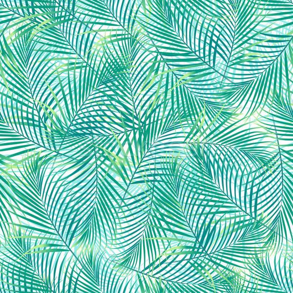 Tropicales hojas de palma blanco flor moda Foto stock © adamfaheydesigns