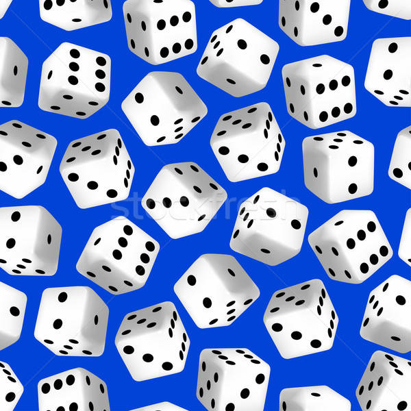 Black and white 3D dice seamless pattern Stock photo © adamfaheydesigns