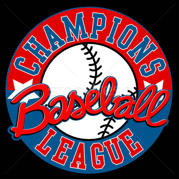 Baseball Champions league sign with ball Stock photo © adamfaheydesigns