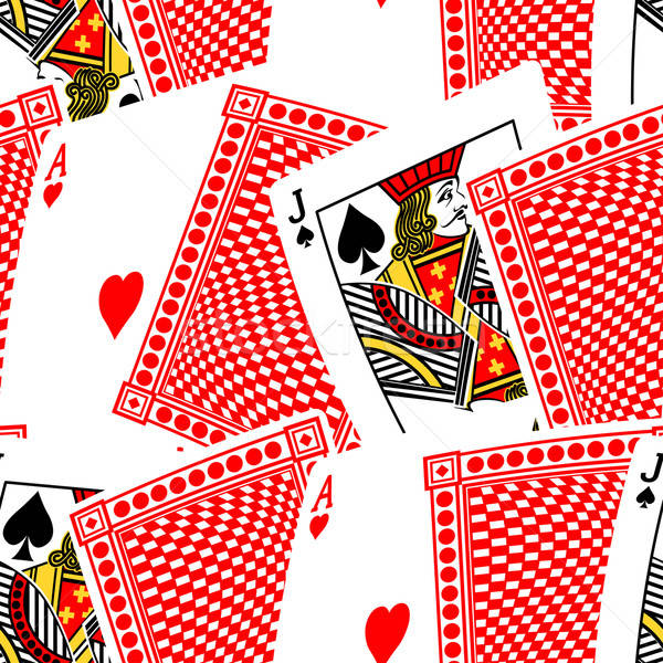 Blackjack cards in a seamless pattern Stock photo © adamfaheydesigns