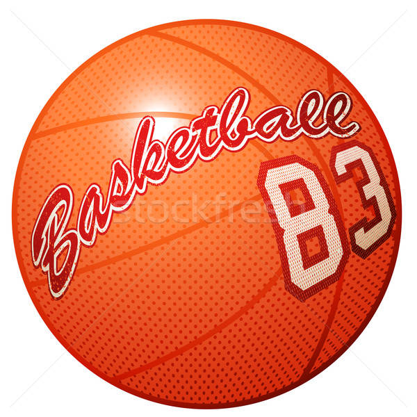 Orange 3D basket équipements sportifs imprimer Photo stock © adamfaheydesigns