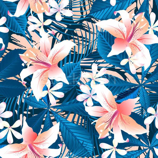 тропические гибискуса цветочный Сток-фото © adamfaheydesigns