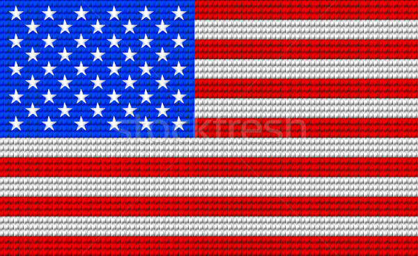 USA flag embroidery design pattern Stock photo © adamfaheydesigns