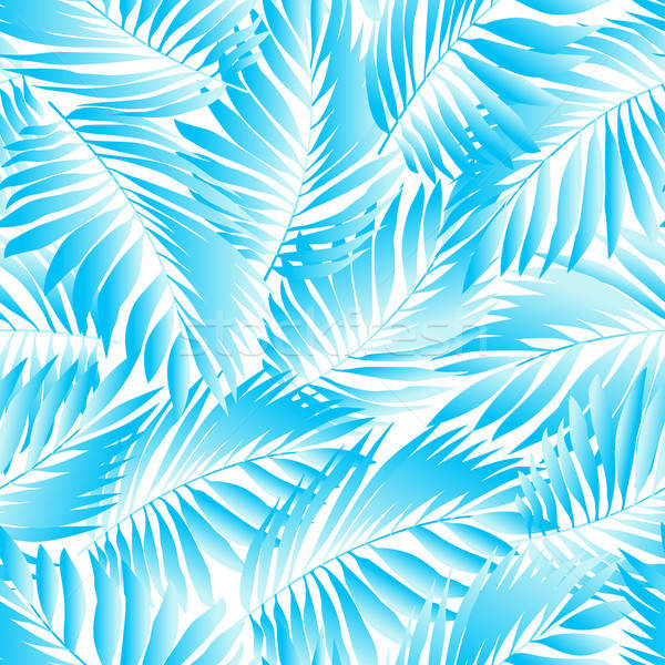 Tropical aqua leaves in a seamless pattern Stock photo © adamfaheydesigns