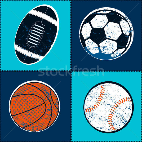 Sports balls children seamless pattern Stock photo © adamfaheydesigns