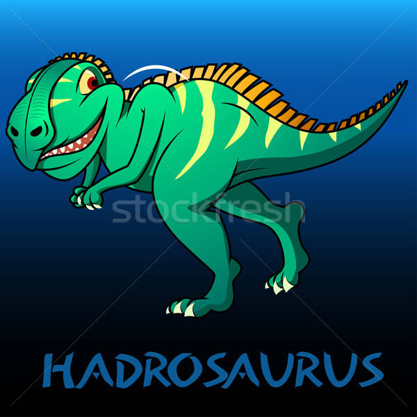 Hadrosaurus cute character dinosaurs Stock photo © adamfaheydesigns