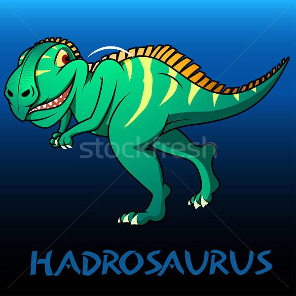 Cute personnage dinosaures enfants dents couleur Photo stock © adamfaheydesigns