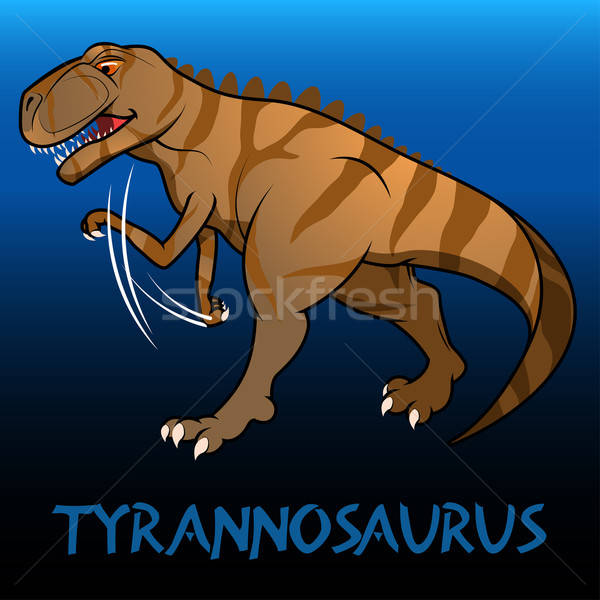 Tyrannosaurus cute character dinosaurs Stock photo © adamfaheydesigns