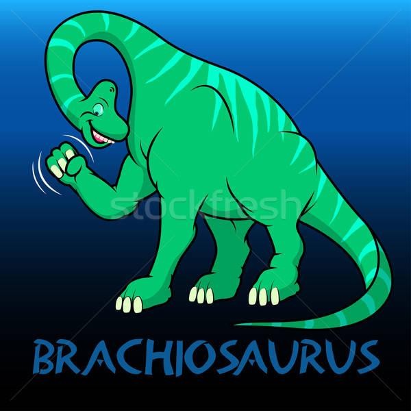 Brachiosaurus cute character dinosaurs Stock photo © adamfaheydesigns
