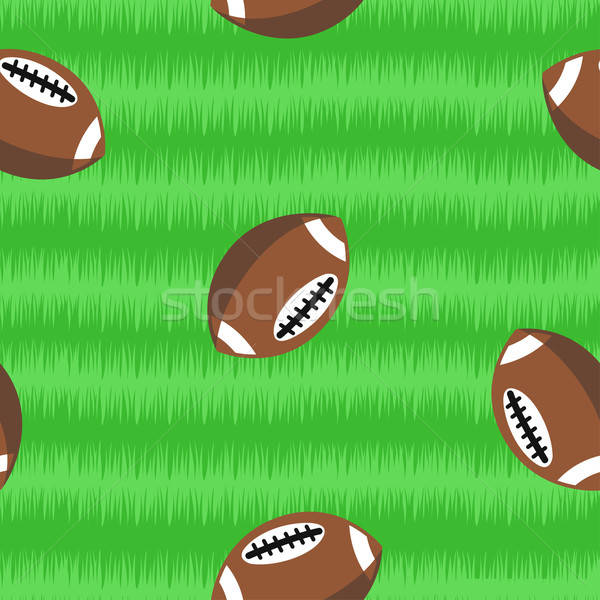 Footballs on field seamless pattern Stock photo © adamfaheydesigns