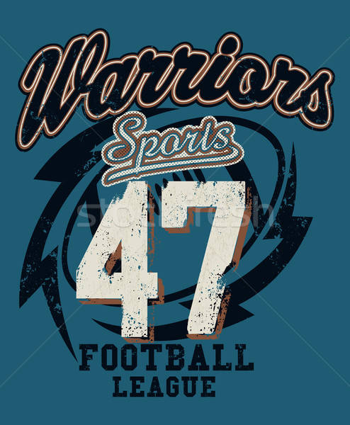 Sports Warriors Football league distressed print Stock photo © adamfaheydesigns