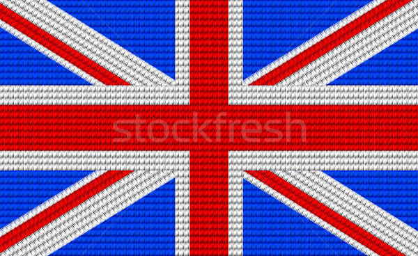 UK flag embroidery design pattern Stock photo © adamfaheydesigns
