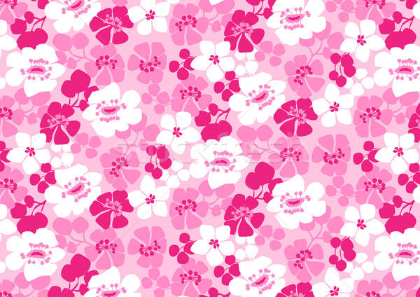 Bright pink and white flowers repeat pattern Stock photo © adamfaheydesigns