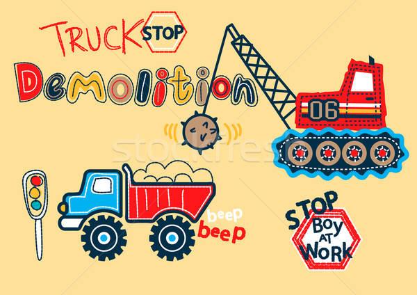 Ciężarówka stop rozbiórki przemysłu Zdjęcia stock © adamfaheydesigns