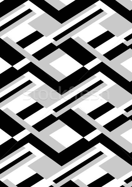 Block black and white repeat pattern Stock photo © adamfaheydesigns