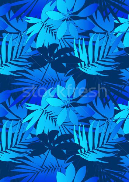 水色 熱帯 葉 繰り返し パターン ストックフォト © adamfaheydesigns
