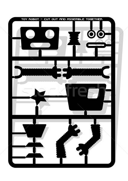 Robot parts cut out and assemble template for children . Stock photo © adamfaheydesigns