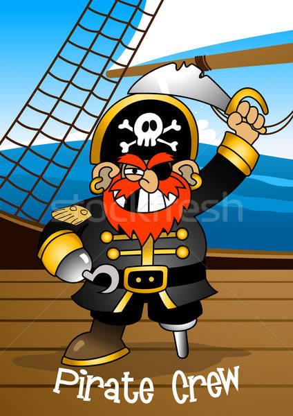 Pirate équipage épée enfants mer Photo stock © adamfaheydesigns