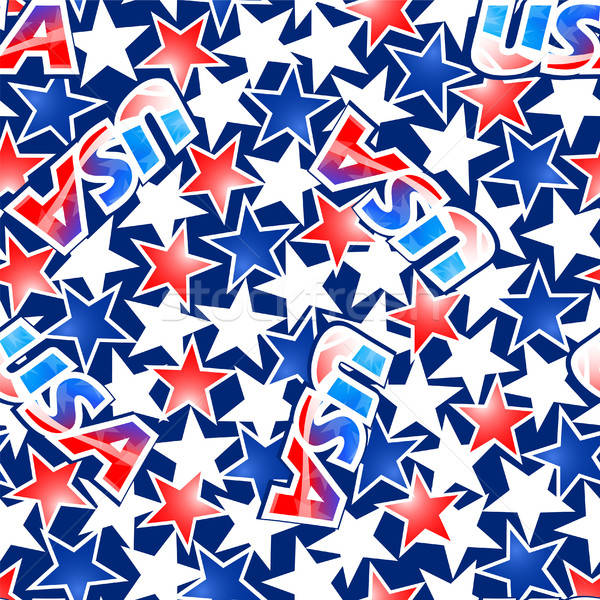 USA zászló csillagok csíkok végtelen minta háttér Stock fotó © adamfaheydesigns