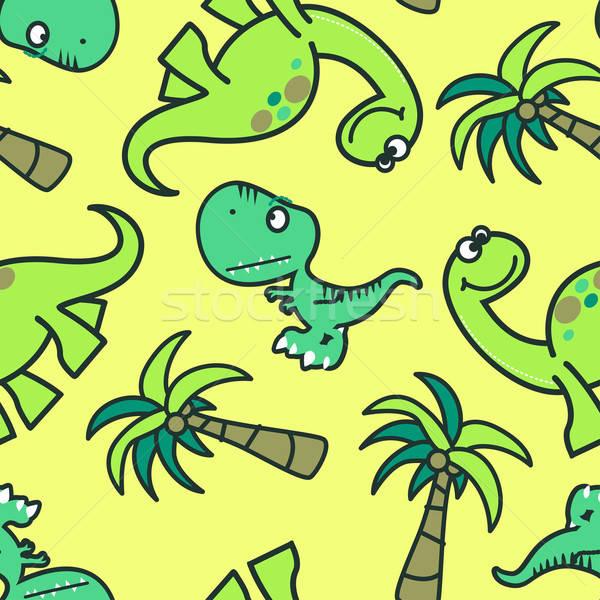 Cute dinosaur seamless pattern Stock photo © adamfaheydesigns