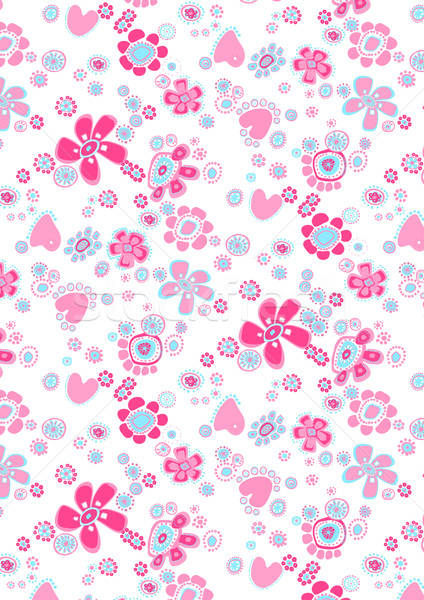 Happy flower repeat pattern Stock photo © adamfaheydesigns