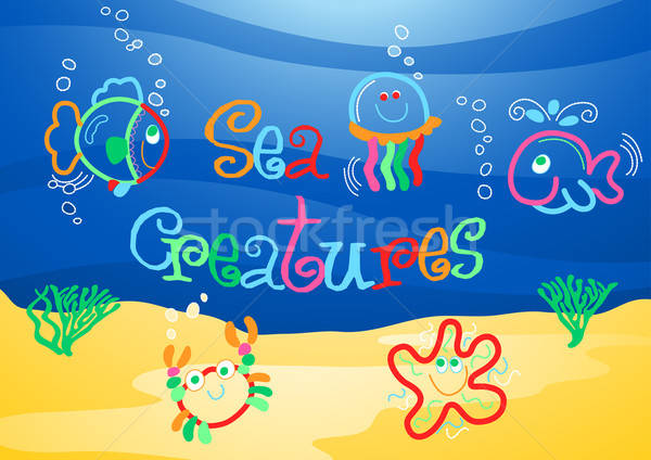 Little sea creatures under the sea Stock photo © adamfaheydesigns