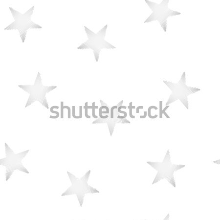 Silver stars embroidery stitching seamless pattern Stock photo © adamfaheydesigns