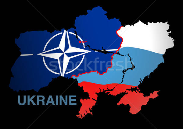 Ukraine map NATO V RUSSIA Stock photo © adamfaheydesigns