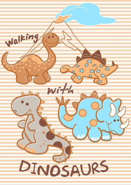 walking with dinosaurs Stock photo © adamfaheydesigns