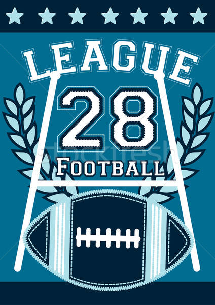 Football league banner with football embroidery Stock photo © adamfaheydesigns