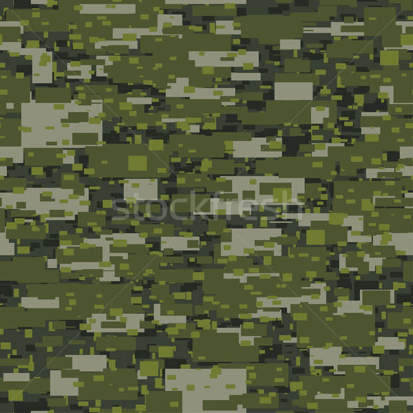 Camouflage urban disruptive block khaki seamless pattern Stock photo © adamfaheydesigns
