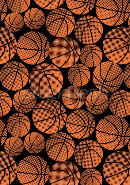 Basketball repeat halftone pattern Stock photo © adamfaheydesigns