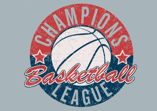 バスケットボール リーグ 印刷 スポーツ ボール ヴィンテージ ストックフォト © adamfaheydesigns