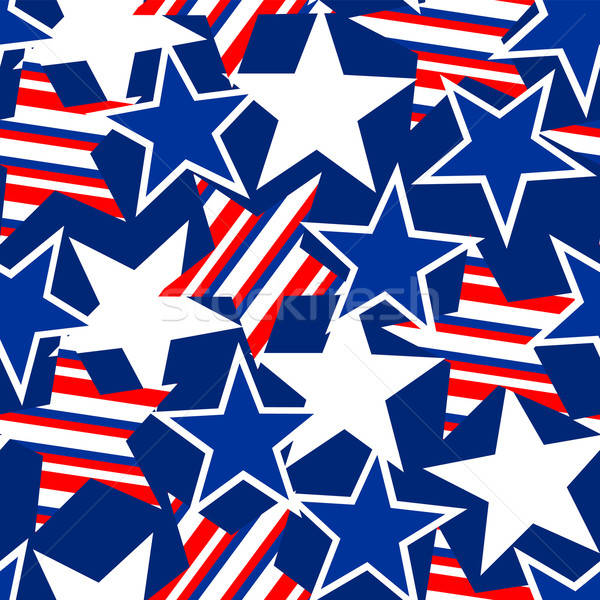 USA stars and stripes seamless pattern Stock photo © adamfaheydesigns