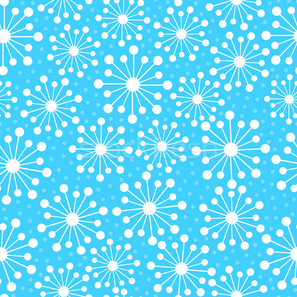 Abstract snowflakes in a seamless pattern Stock photo © adamfaheydesigns