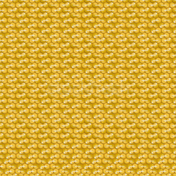 Gold shiny sequins with stitching seamless pattern Stock photo © adamfaheydesigns