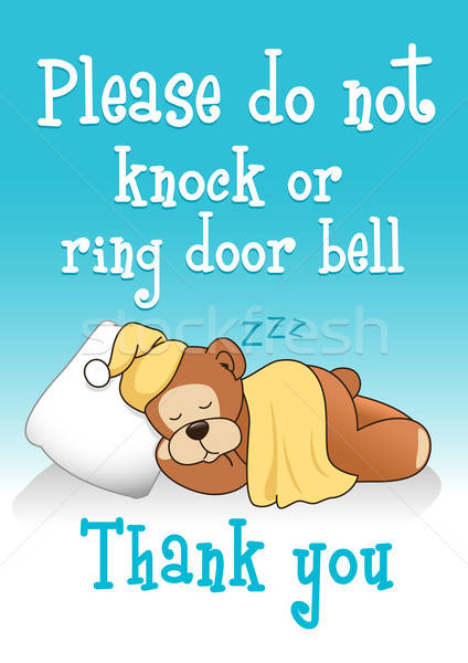 Do not knock sleeping bear 1 Stock photo © adamfaheydesigns