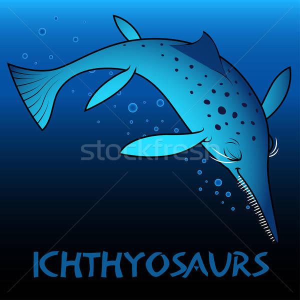 Ichthyosaurs cute character dinosaurs Stock photo © adamfaheydesigns